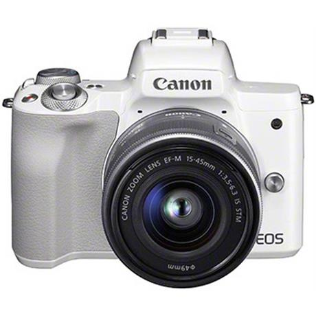 Canon EOS M50 Body With EF-M 15-45mm IS STM Lens Kit - White Image 1